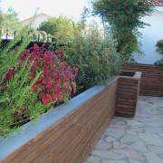 Jardinière brise vue pour habiller une terrasse