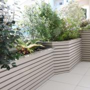 Jardiniere paysagere, brise vue, lasurée